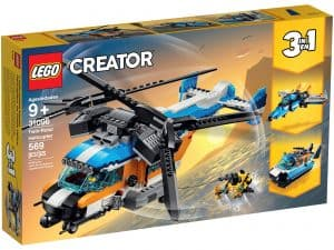 lego 31096 helikopter med to rotorer