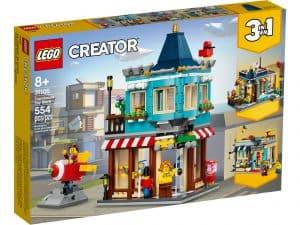 lego 31105 byhus med legetojsbutik