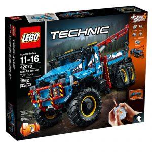 lego 42070 sekshjulet terraengaende kranvogn