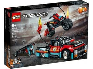 lego 42106 stuntshowbil og motorcykel