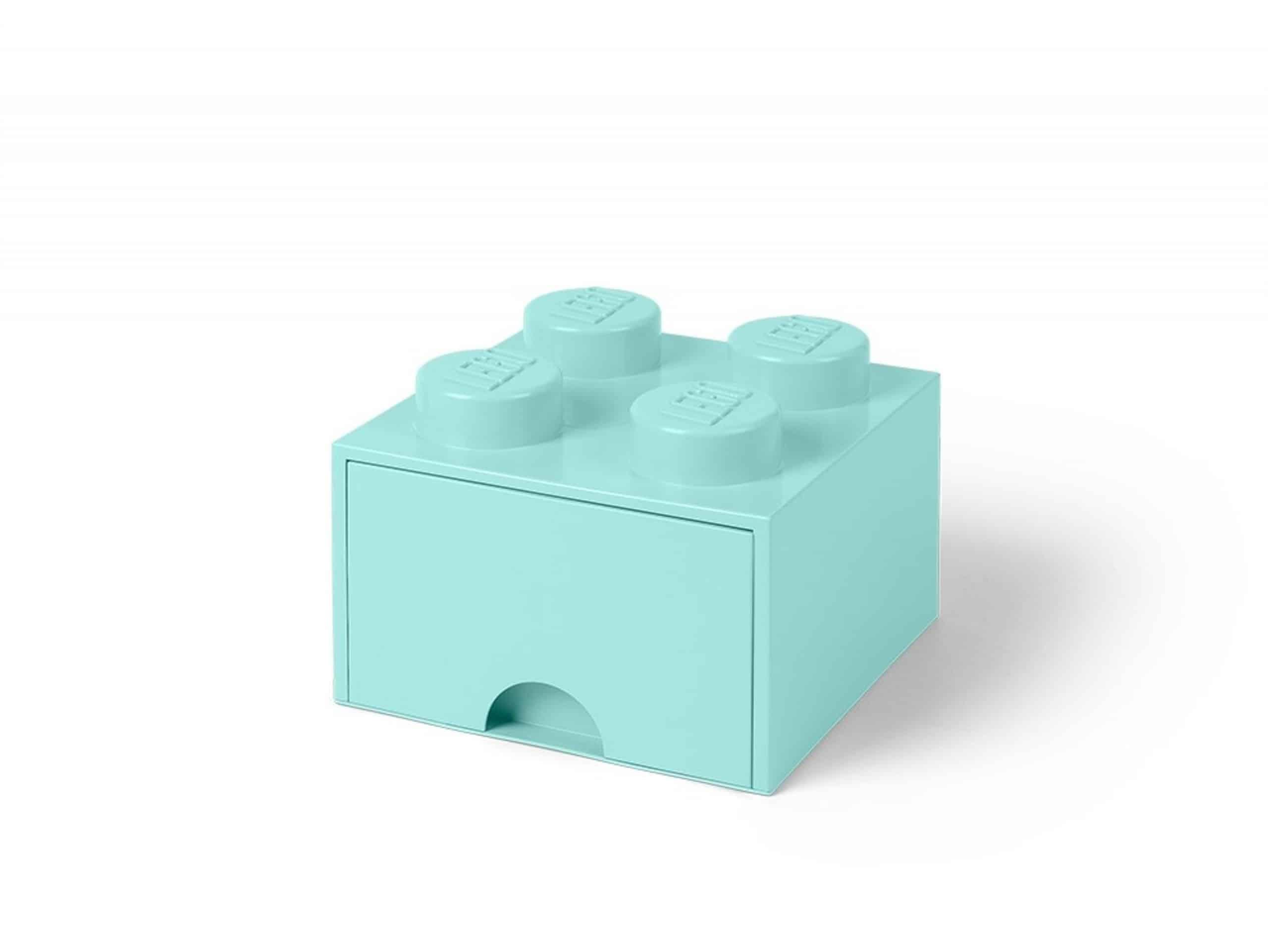 lego 5005714 4 knops akvamarinbla opbevaringsklods med skuffe scaled