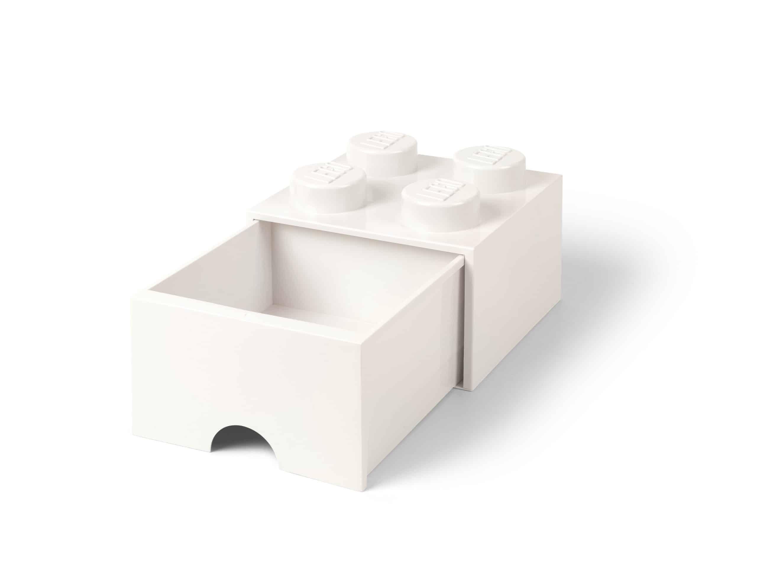 lego 5006208 4 knops hvid opbevaringsklods med skuffe scaled