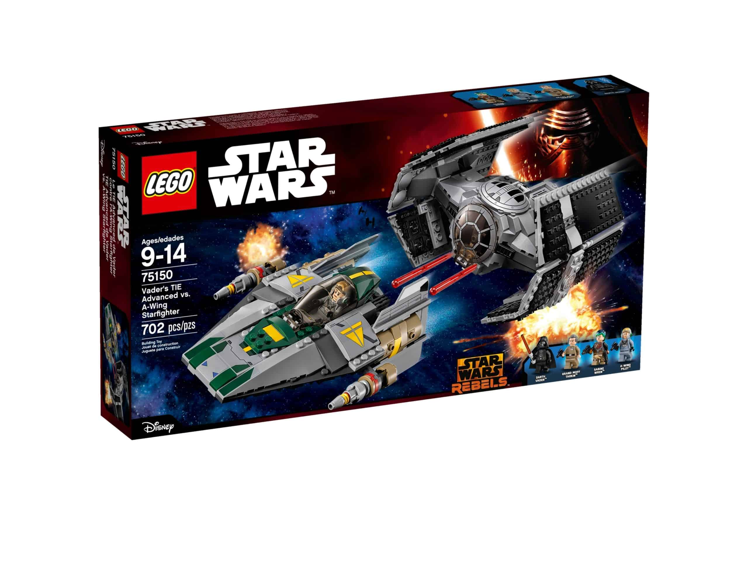 lego 75150 vaders tie advanced mod a wing starfighter scaled