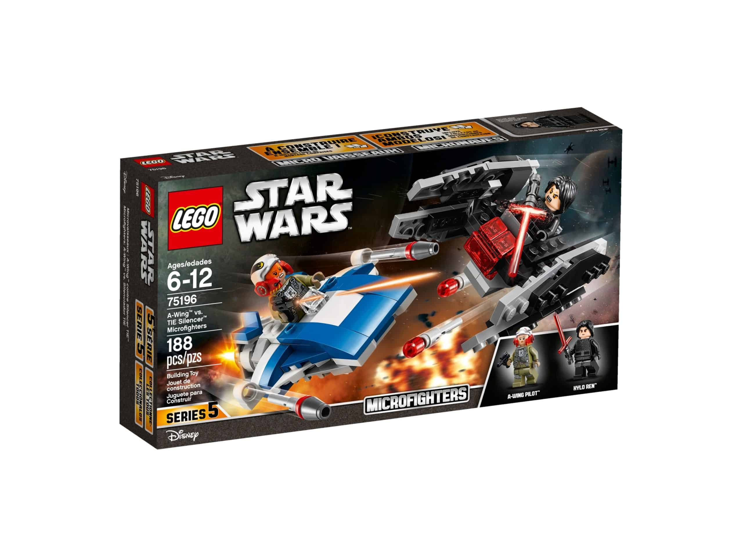 lego 75196 a wing mod tie silencer microfighters scaled