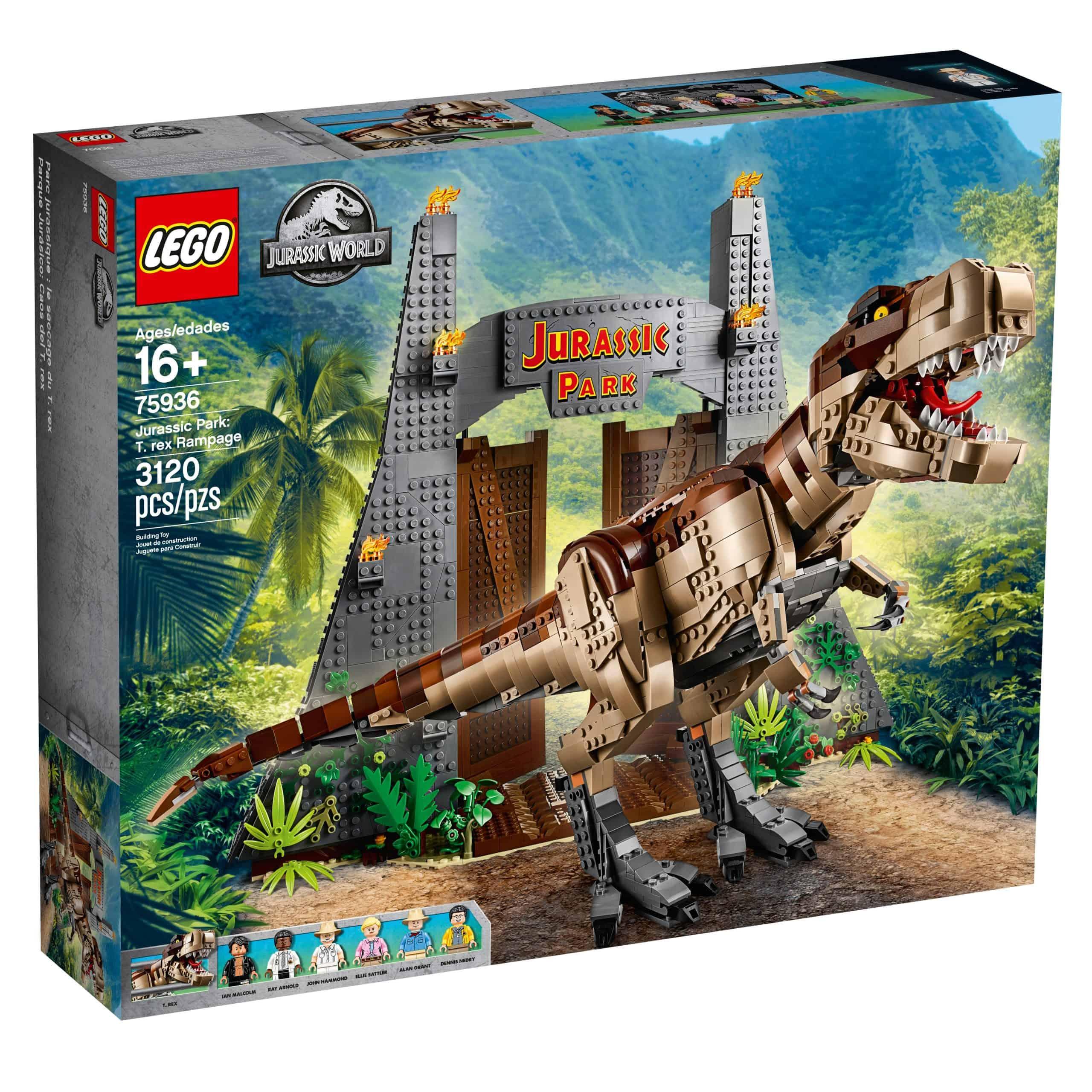 lego 75936 jurassic park t rex ravage scaled
