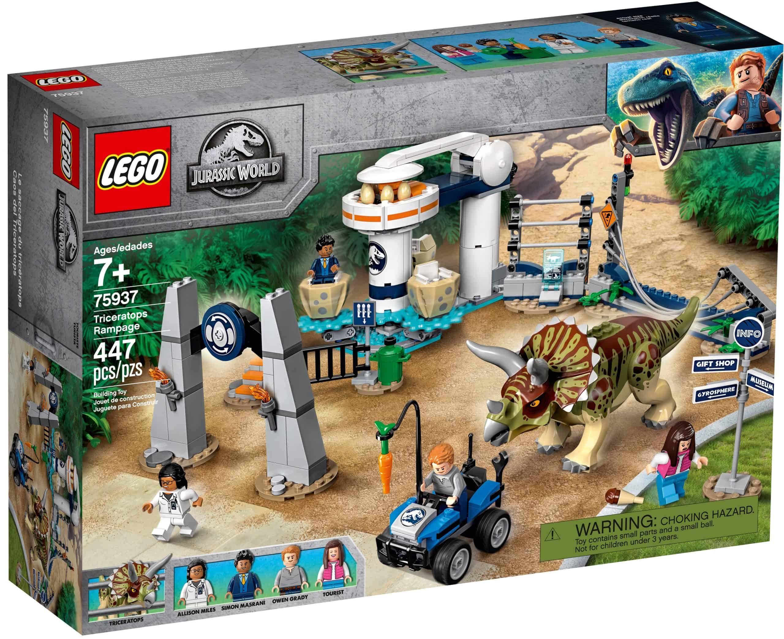 lego 75937 triceratops ravage scaled