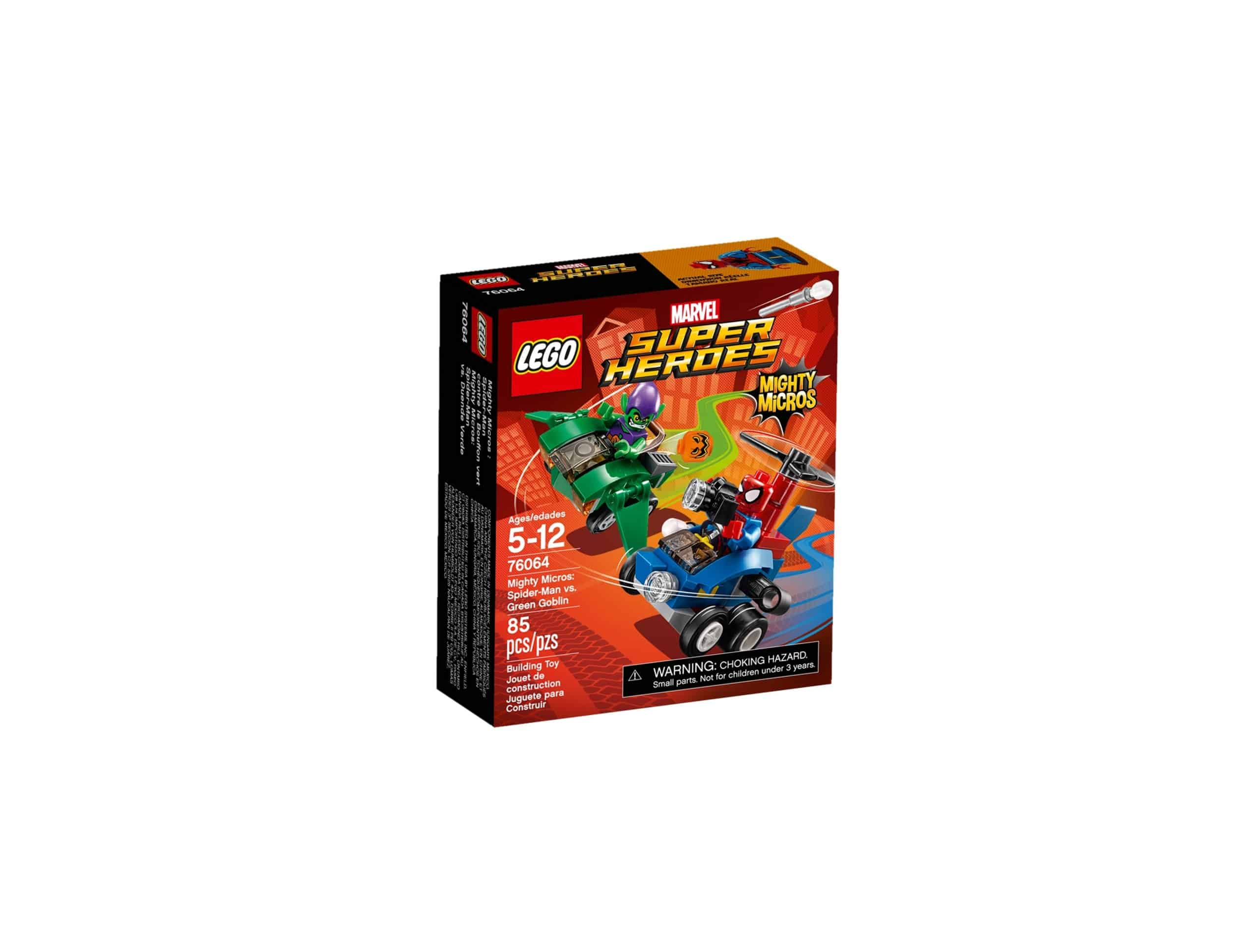 lego 76064 mighty micros spider man mod green goblin scaled