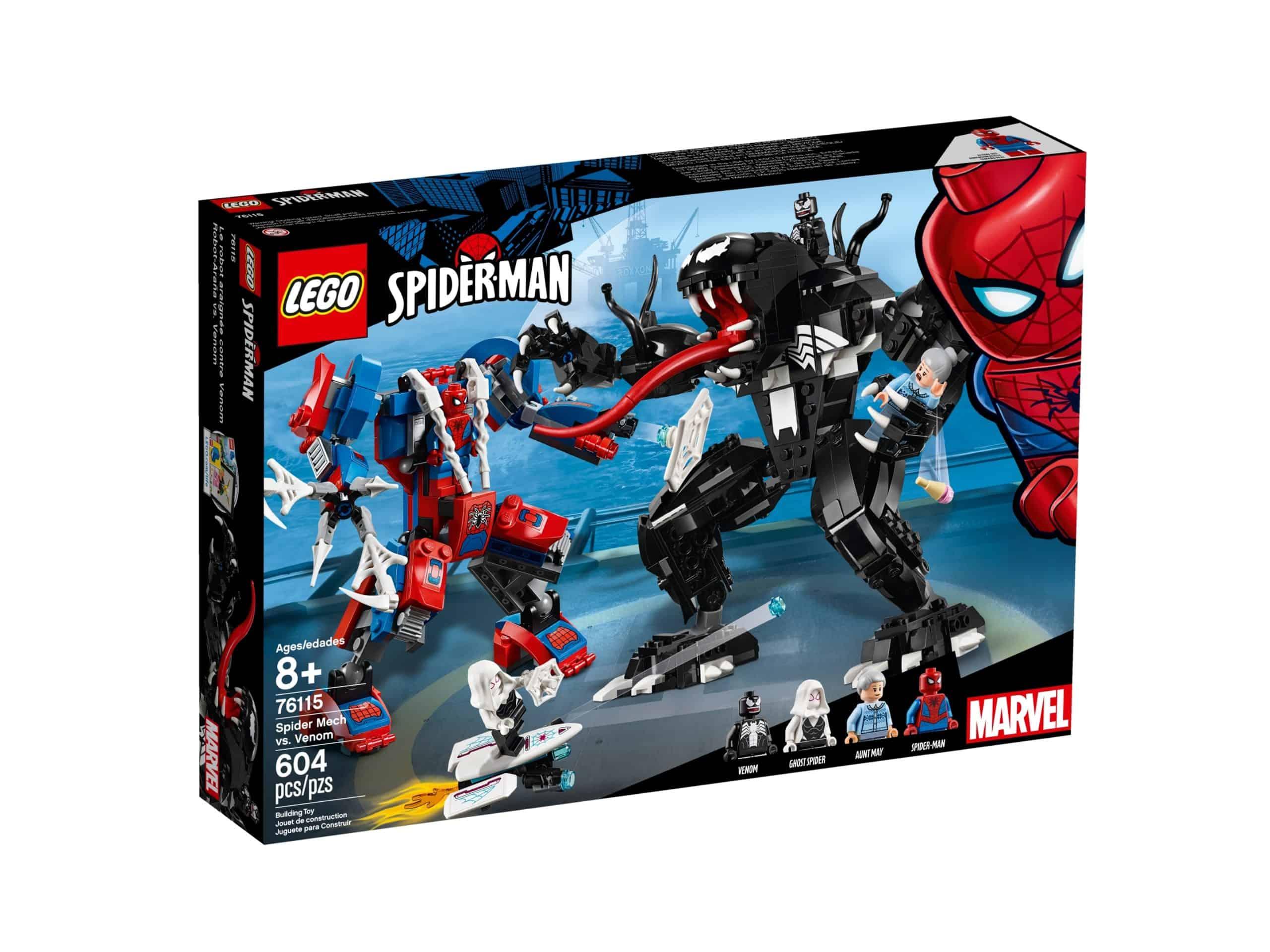 lego 76115 spider robotten mod venom scaled
