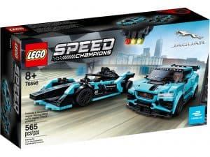 lego 76898 formula e panasonic jaguar racing gen2 bil og jaguar i pace etrophy