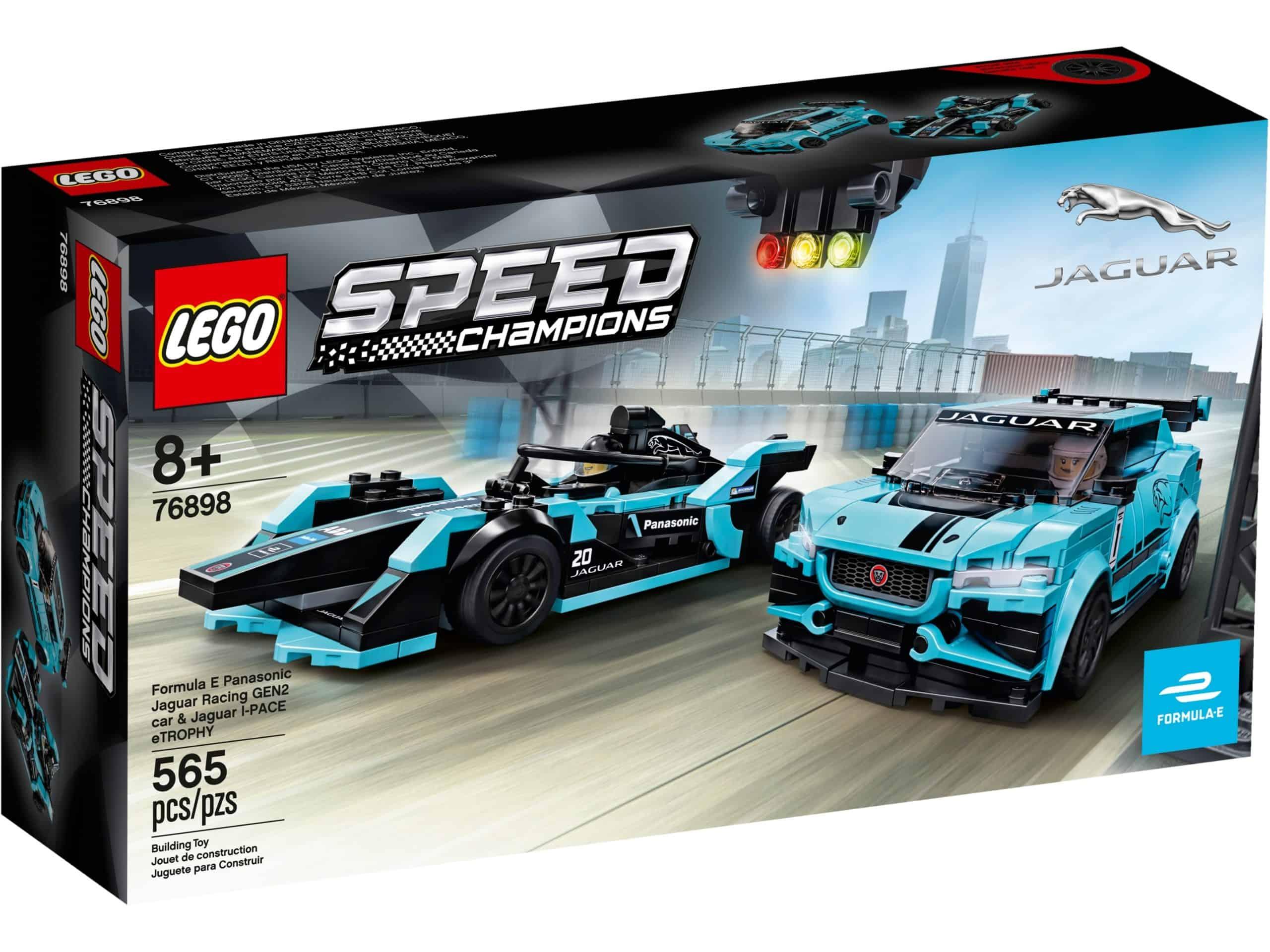 lego 76898 formula e panasonic jaguar racing gen2 bil og jaguar i pace etrophy scaled