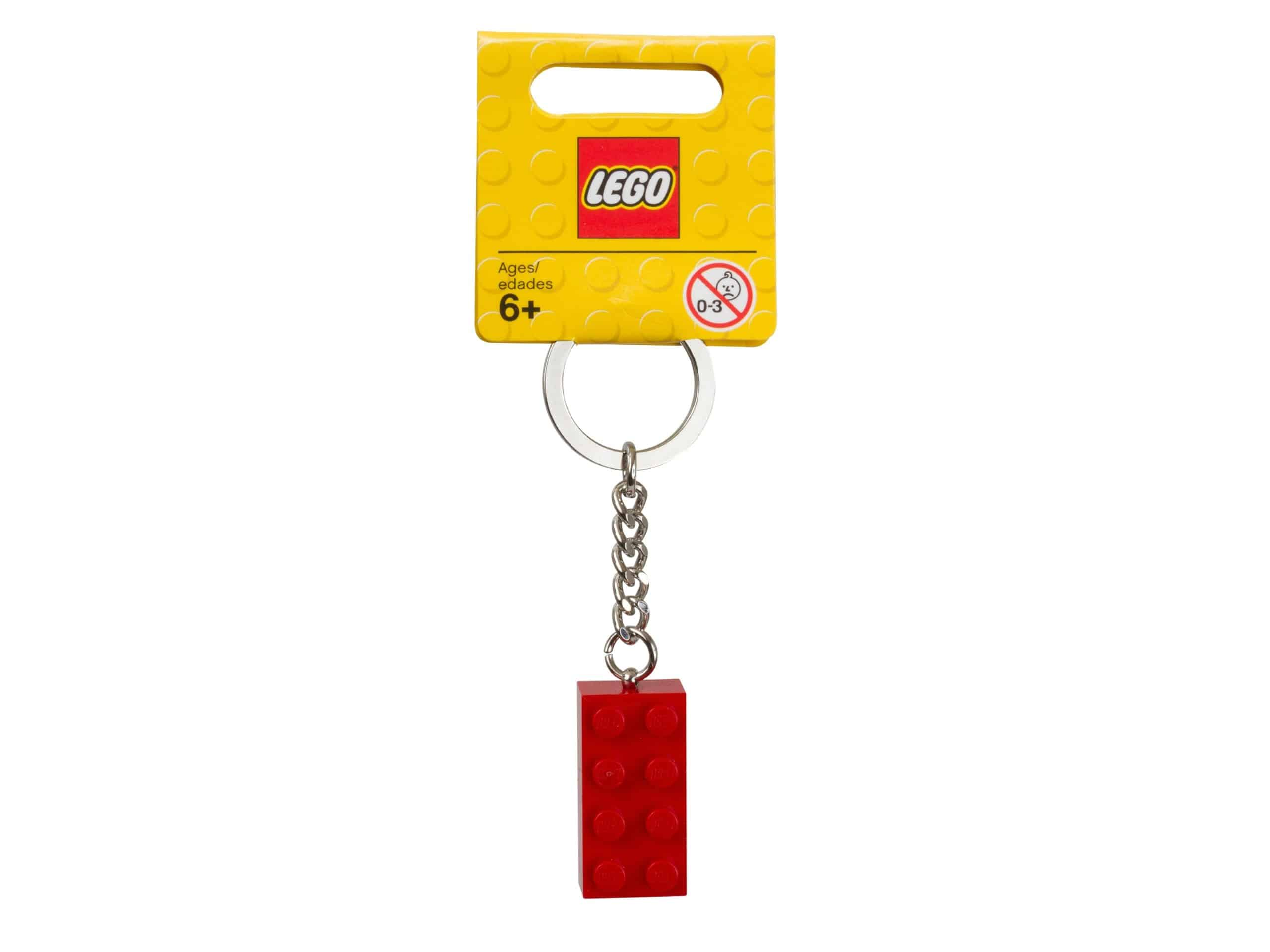 lego 850154 keyring 2x4 stud red scaled