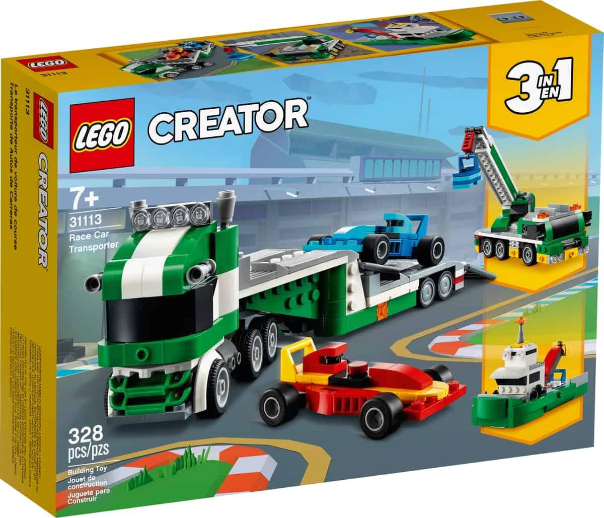 lego 31113 racerbil transporter