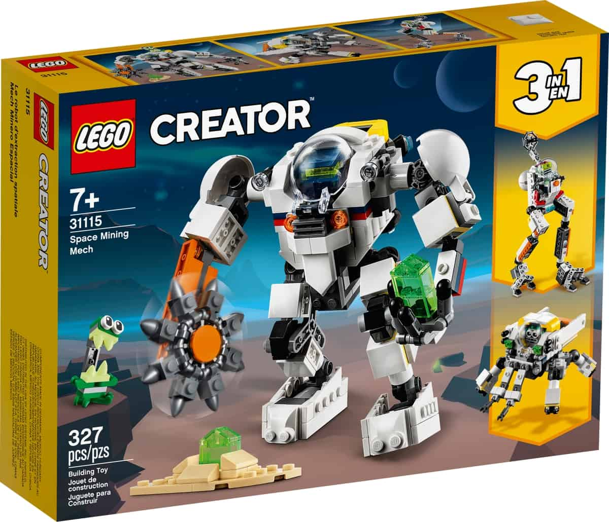lego 31115 rum minerobot