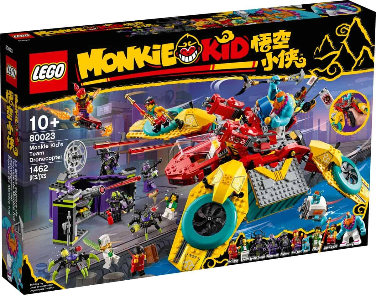 lego 80023 monkie kid teamets dronecopter