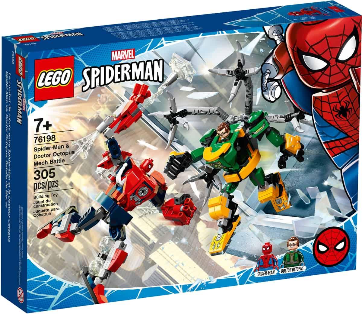lego 76198 spider man og doctor octopus i mech robotkamp
