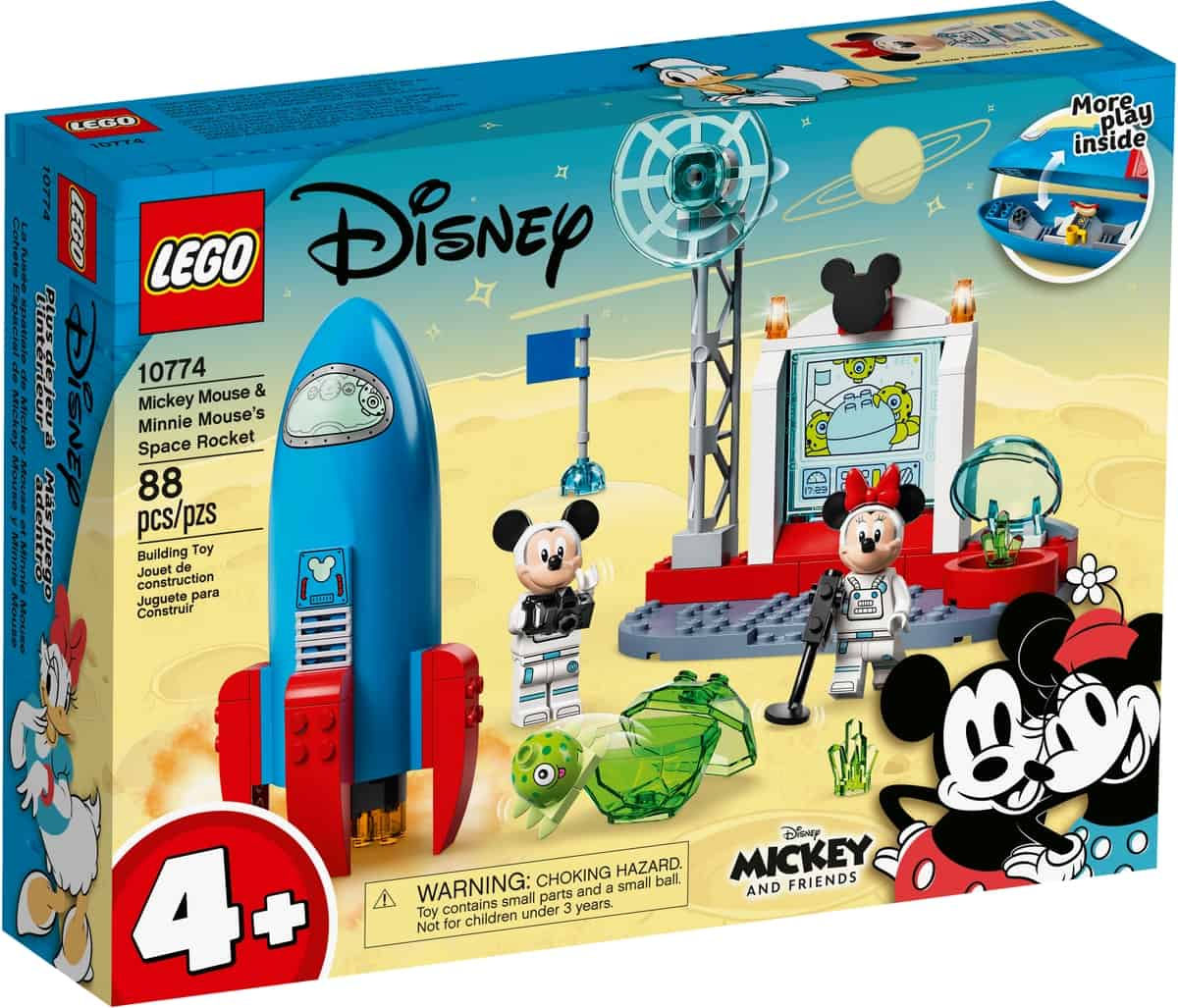 lego 10774 mickey mouse og minnie mouses rumraket