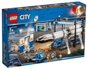 lego 60229 raketmontering og transport
