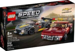 lego 76903 chevrolet corvette c8 r racerbil og 1968 chevrolet corvette