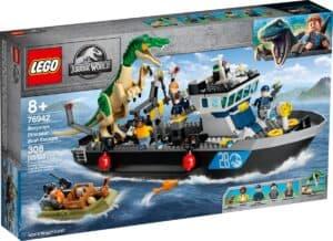 lego 76942 world baryonyx dinosaurflugt i bad