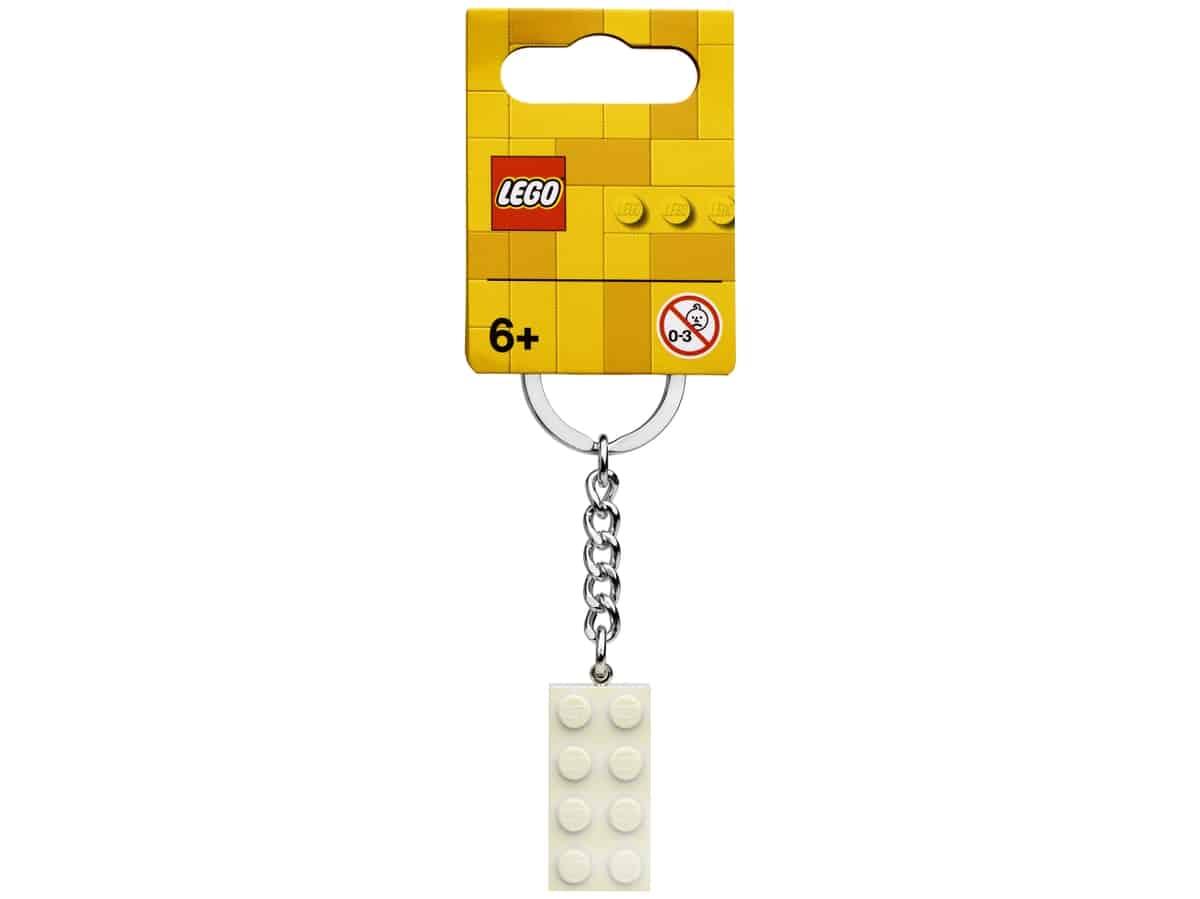 lego 854084 noglering med 2x4 klods i hvidt metallook